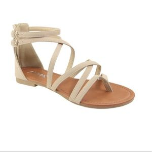 dc0b90884cab Anna Shoes - Anna Casey Strappy Flat Sandals NWOT